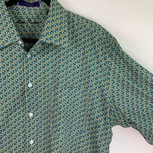 Alan Flusser Shirts - Alan Flusser Long Sleeve Printed Top Men's XL